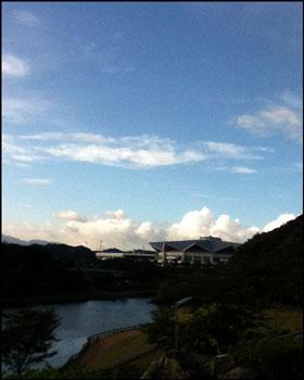 今朝も早くから積乱雲が・・・暑くなりそう・・・
