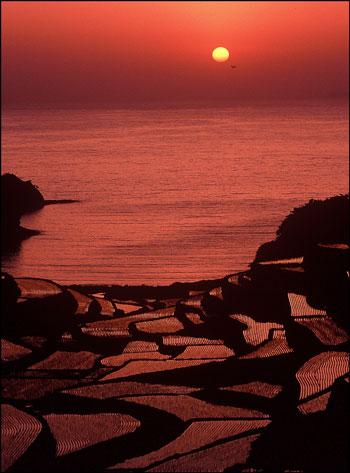 一日の終わりにこんな夕日が見れたら・・・幸せ・・