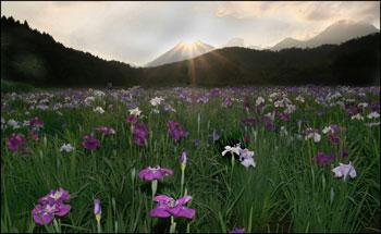 神楽湖の夕景・・・